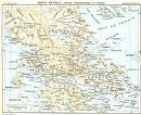 ANCIENT GREECE. Mainland & Euboea. Grèce. Eubee, 1956 vintage map
